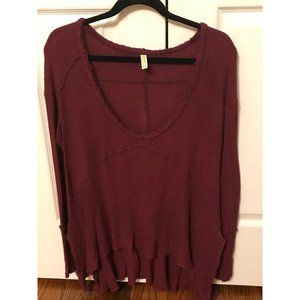 FREE PEOPLE Cotton Knit Top